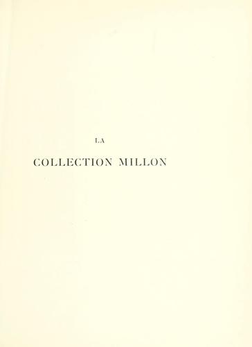 La collection Millon by Joseph Déchelette