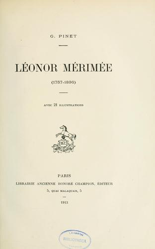 Léonor Mérimée, 1757-1836 by Gabriel Pinet