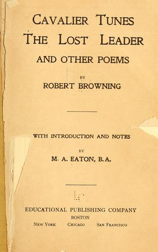 Cavalier tunes by Robert Browning