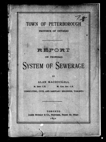 Town of Peterborough, province of Ontario by Alan MacDougall