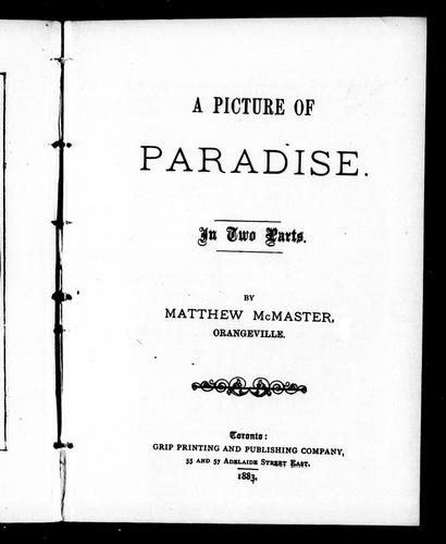 A picture of paradise by Andrew McMaster