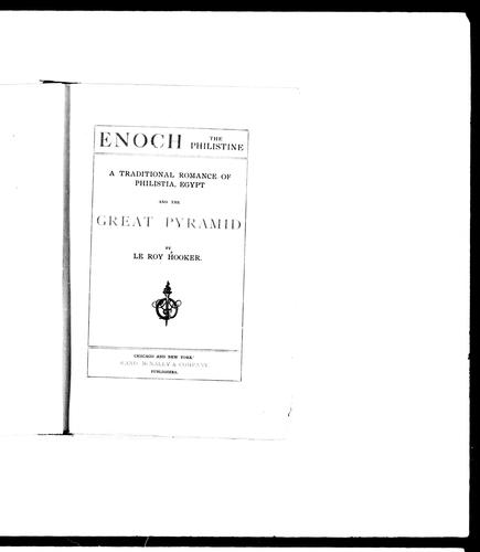 Enoch, the Philistine by Hooker, Le Roy