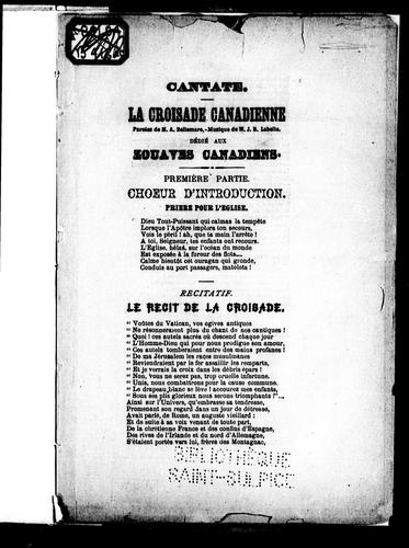 Cantate by A. Bellemare