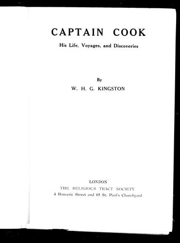 Captain Cook by William H. G. Kingston