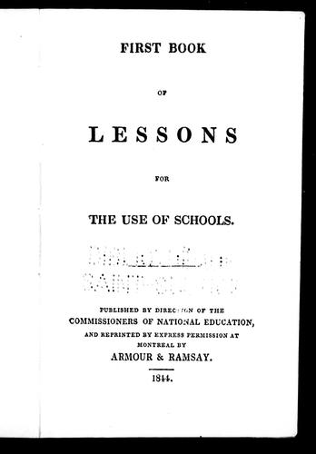 First book of lessons by