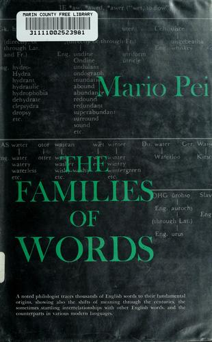 The families of words. by Mario Pei