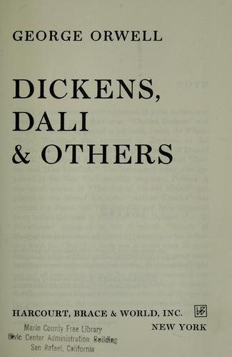 ...Dickens, Dali & others by George Orwell
