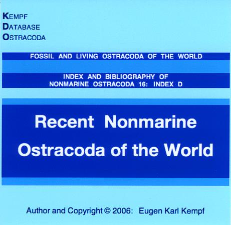 Index and Bibliography of Nonmarine Ostracoda,16 by Eugen Karl Kempf