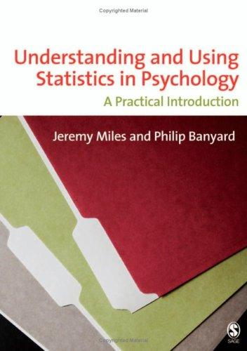 Understanding and using statistics in psychology by