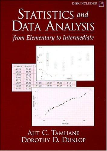 Statistics and Data Analysis by Ajit C. Tamhane