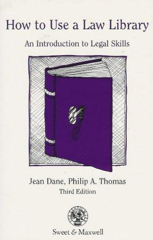 How to use a law library by Philip A. Thomas