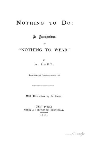 Nothing to do by J. H. Howard