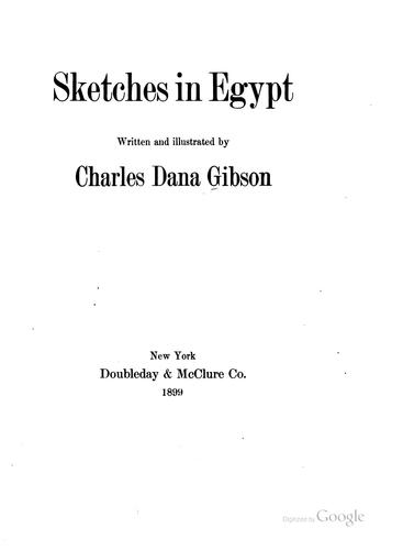Sketches in Egypt by Charles Dana Gibson