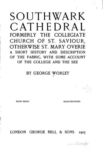 The cathedral church of Southwell by Arthur Dimock