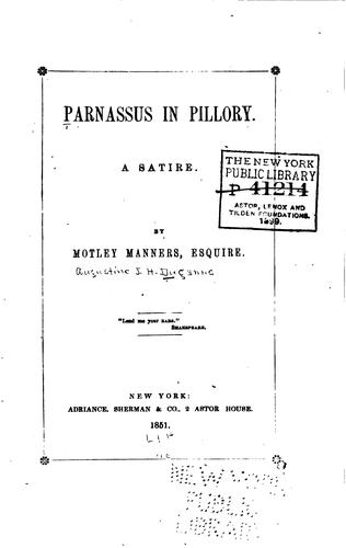 Parnassus in pillory