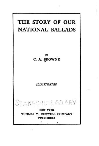 The story of our national ballads.