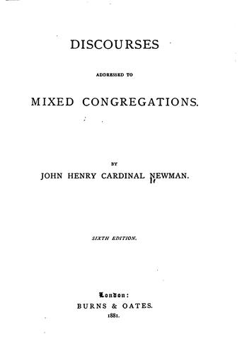 Discourses addressed to mixed congregations.