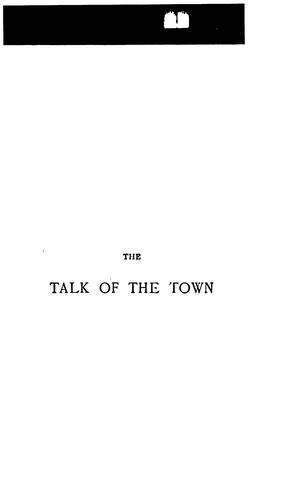 The talk of the town by James Payn