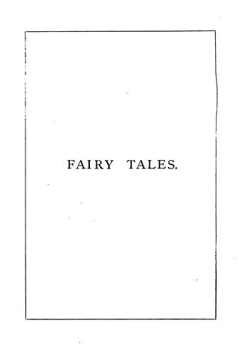 Fairy tales by Mark Lemon