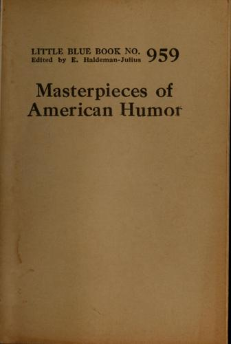 Masterpieces of American humor by