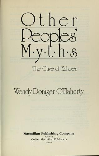 Other Peoples' Myths