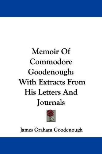 Memoir Of Commodore Goodenough