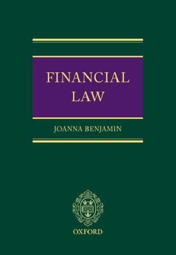 Financial law by Joanna Benjamin