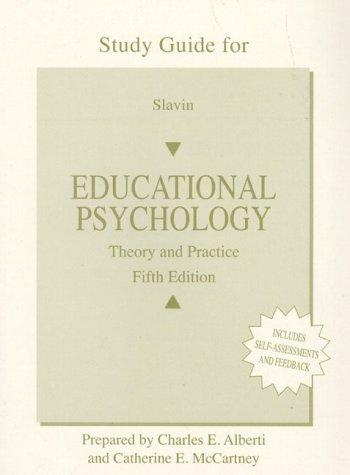 Educational Psychology (Workbook) by Catherine E. McCartney, Charles E. Alberti