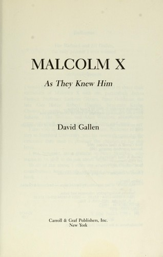 Malcolm X by David Gallen