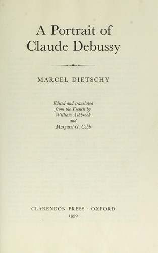 Passion de Claude Debussy by Marcel Dietschy