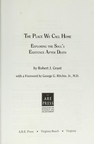 The place we call home by Robert J. Grant