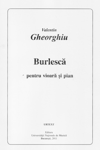 Burlesque for violin and piano by