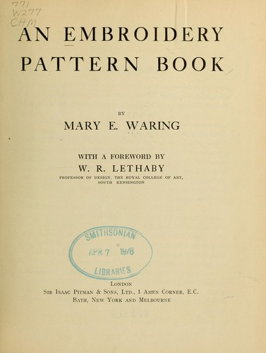 An embroidery pattern book by Mary E. Waring