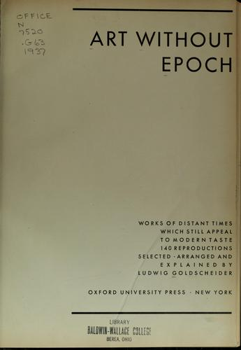 Art without epoch