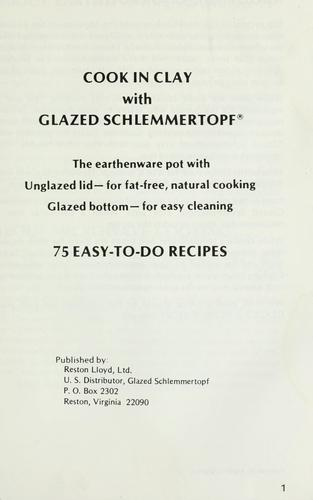 Cook in clay with Glazed Schlemmertopf by