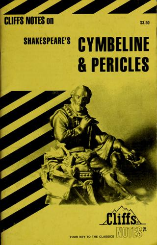 Cymbeline & Pericles, notes by James F. Bellman