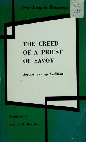 The creed of a priest of Savoy.