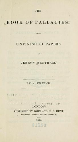 The book of fallacies by Jeremy Bentham