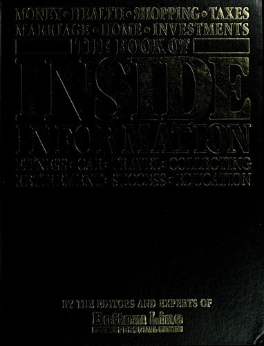 The Book of inside information by