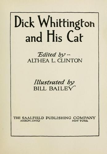 Dick Whittington and his cat by
