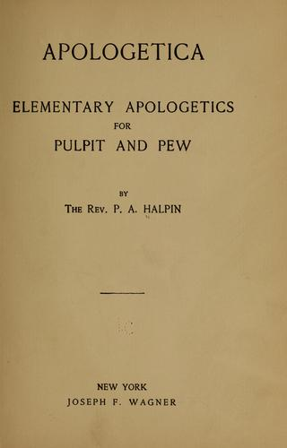 Apologetica by P. A. Halpin