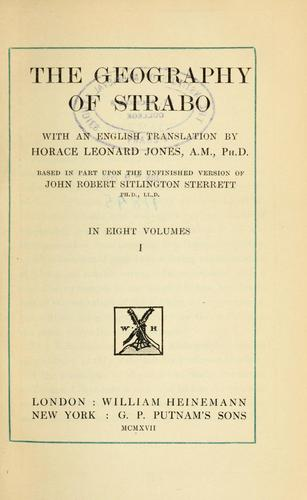 The Geography of Strabo by Strabo