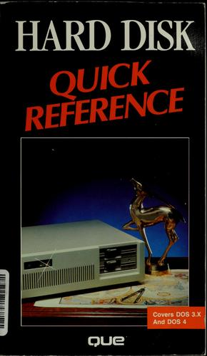 Hard disk quick reference by Pete Moulton
