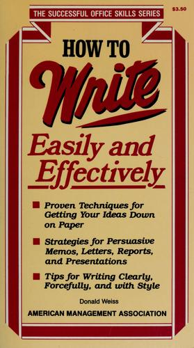 How to write easily and effectively by