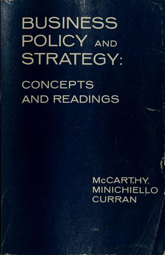 Business policy and strategy by