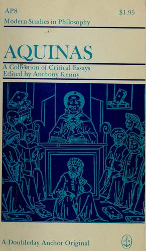 Aquinas by Anthony John Patrick Kenny
