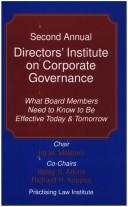 Second annual Directors' institute on corporate governance by Directors' Institute on Corporate Governance (2nd 2004)