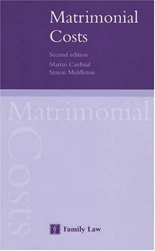 Matrimonial Costs by M. Cardinal