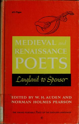 Poets of the English language by W. H. Auden