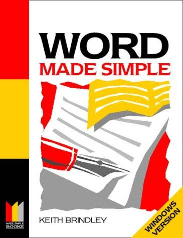 Word for Windows Made Simple (Computing Made Simple) by Keith Brindley